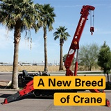 "SPYDERCRANE mini crawler crane with words ""A New Breed of Crane"" over top"