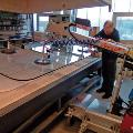 Smartlift Glass Handler Applying Glass on Counter Top